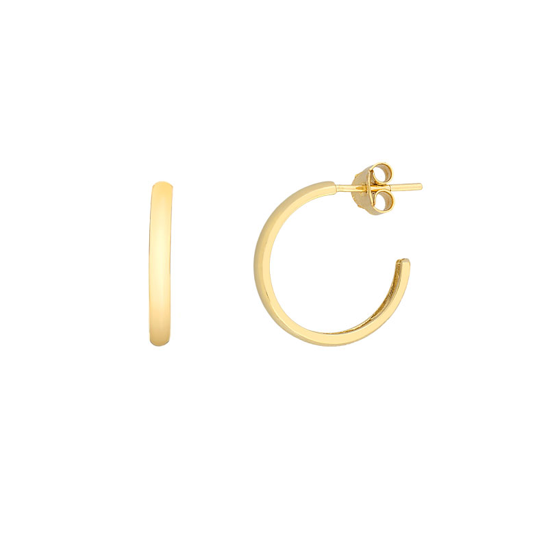 YELLOW GOLD PLANE HOOP