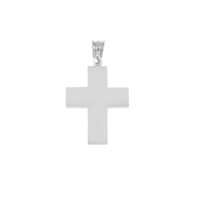 WHITE GOLD CROSS FOR BOYS