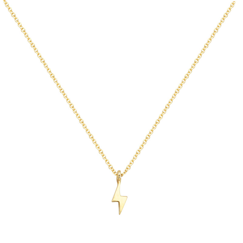 YELLOW GOLD THUNDER NECKLACE