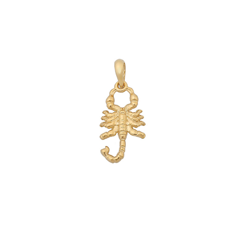 YELLOW GOLD SCORPION PENDANT