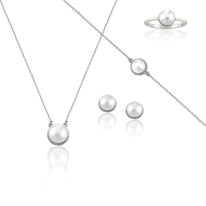 WHITE GOLD PEARL SET