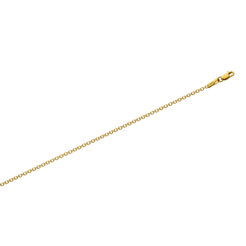 YELLOW GOLD ROLO DIAMOND CUT CHAIN