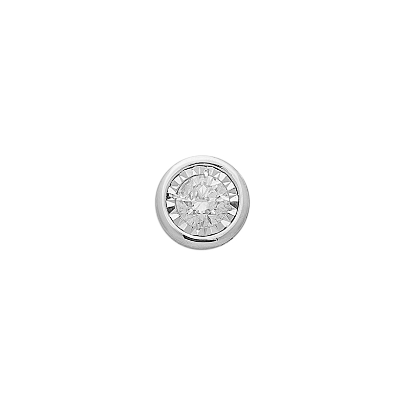 WHITE GOLD K18 PENDANT WITH DIAMONT