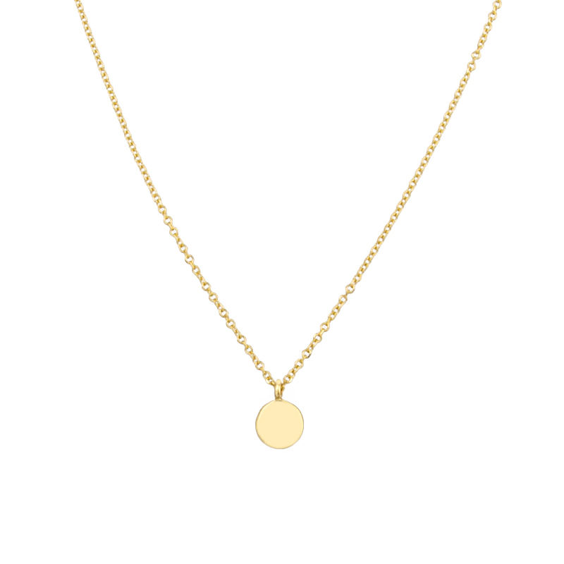 YELLOW GOLD K14 NECKLACE WITH ROUND ELEMENT