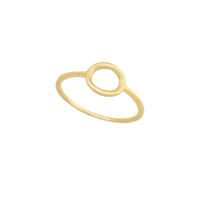 YELLOW GOLD K14 ROUND RING