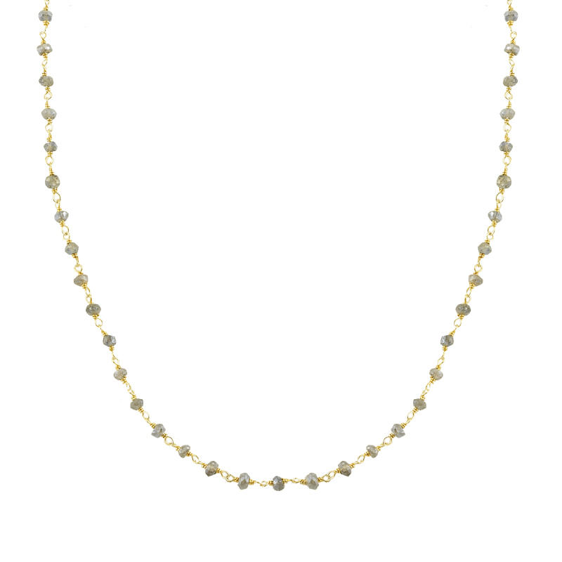 YELLOW GOLD K14 NECKLACE WITH QUARTZ STONES